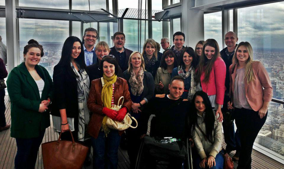 With some of the EE Team on a day out at The Shard (2013)