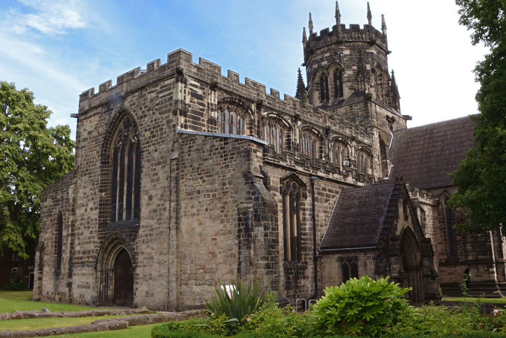 St Mary's Church in Stafford Town Centre