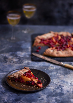 Quince and Cranberry Galette