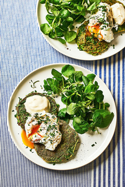 Fritters with Poached Egg