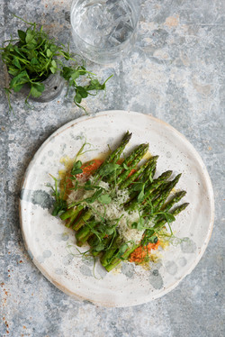 Asparaguswith Romesco served