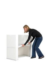Action storage shelf