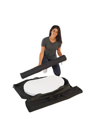 Finesse2 carry bag and promotional display counter parts