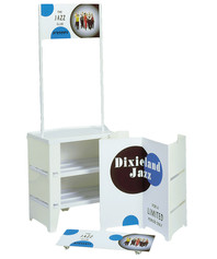 Compact promotional display counter parts