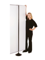 So Simple freestanding display with longer pole option