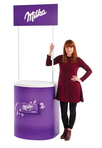Rapido promotional display counter