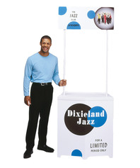 Compact promotional display counter