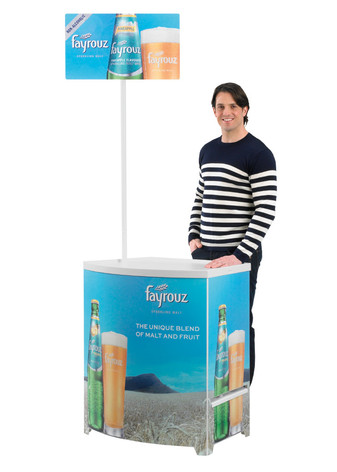 Budget promotional display counter