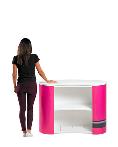 Back view of the Finesse promotional display counter