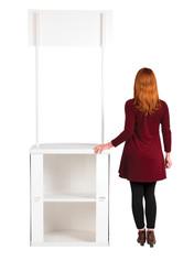 Rapdio promotional display counter storage