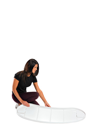 Bottom of Finesse promotional display counter
