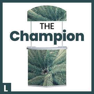Champion large promotional display counter