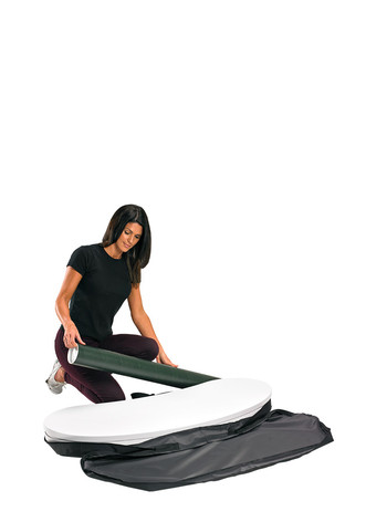 Finesse carry bag and promotional display counter parts