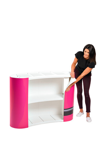 Promotional display counter graphics