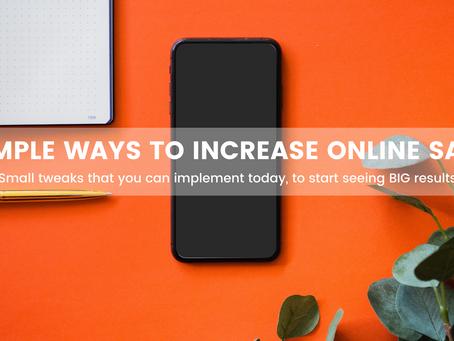 5 SIMPLE WAYS TO INCREASE ONLINE SALES
