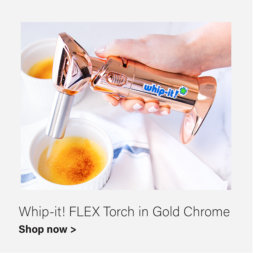 Whip-It! Flex Culinary Torch in Gold Chrome