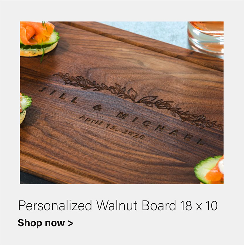 Royalton Rectangle 18 x10 Walnut Board - Personalized