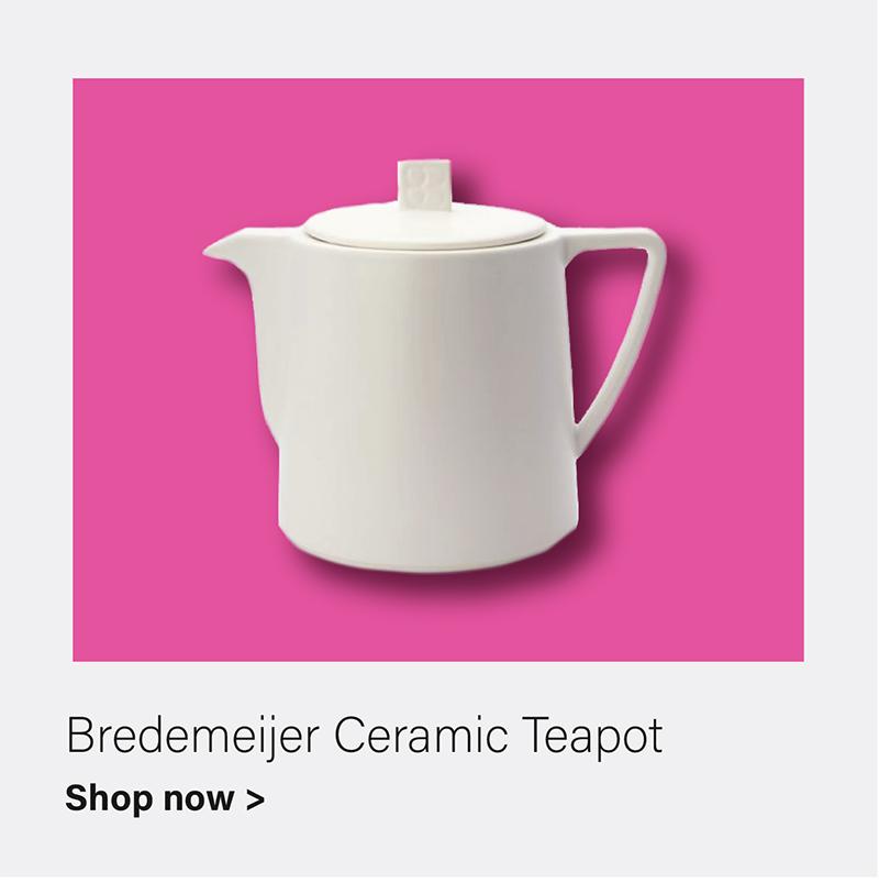 Bredemeijer 34 fl oz Teapot Ceramic White LUND