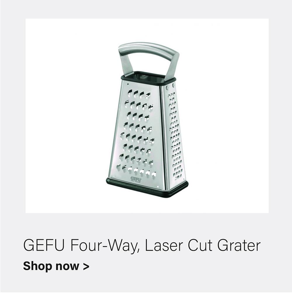 GEFU Four-Way Laser Cut Grater