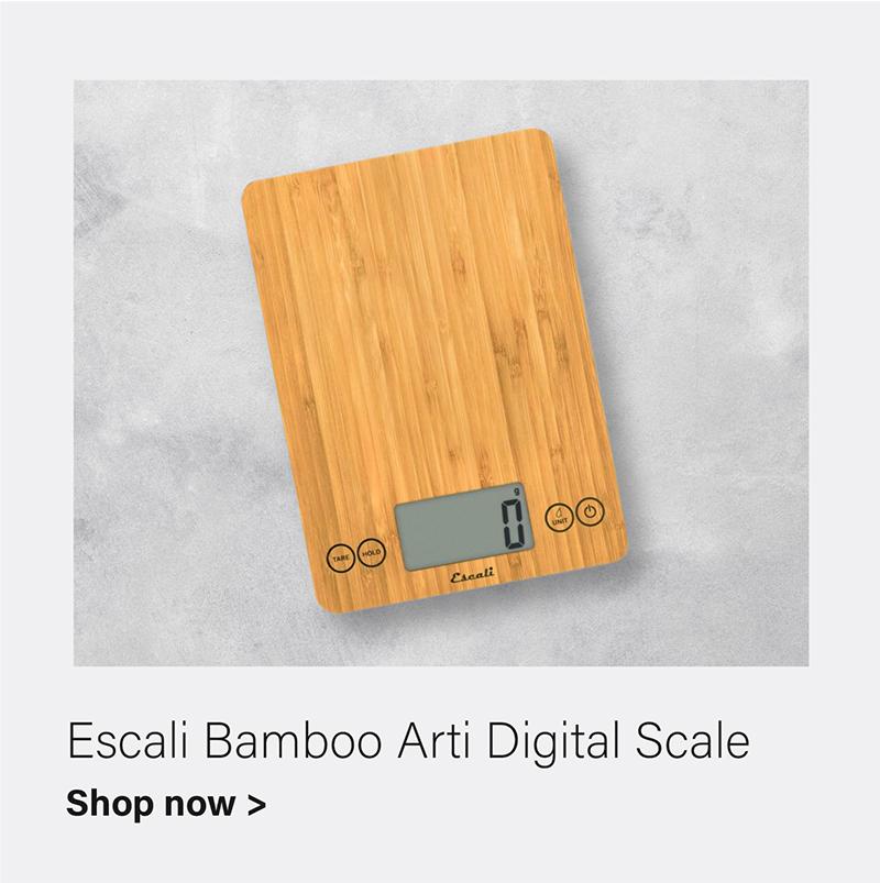 Escali Arti Digital Scale, 15 Lb - Bamboo