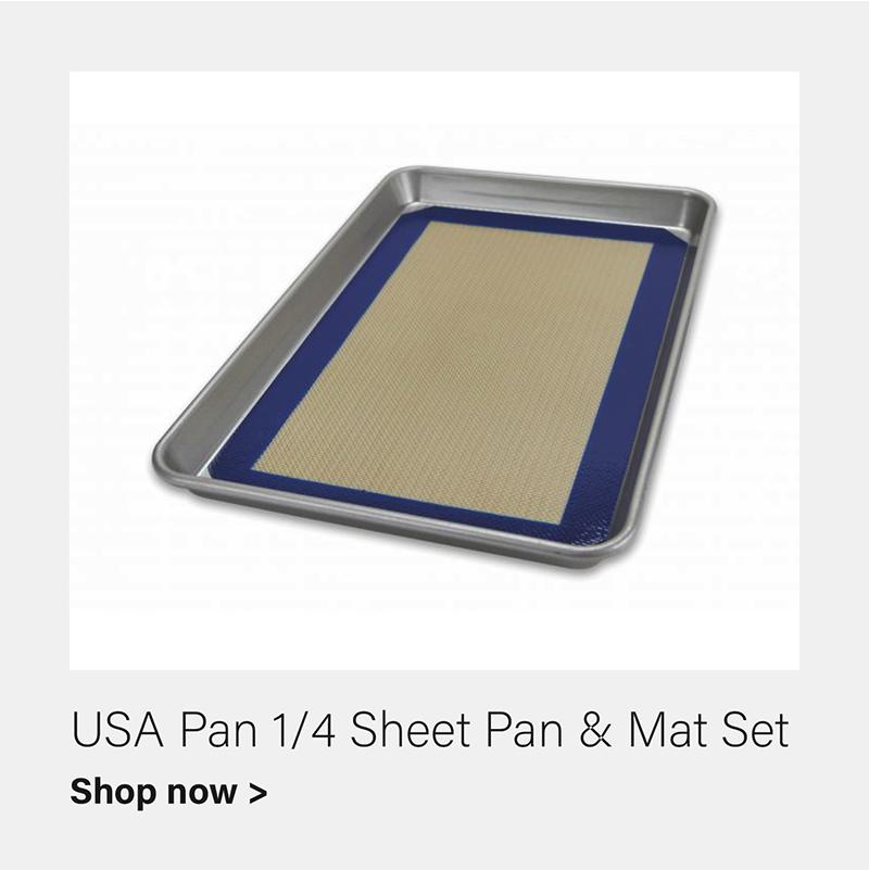 USA Pan Quarter Sheet Pan & Baking Mat Set