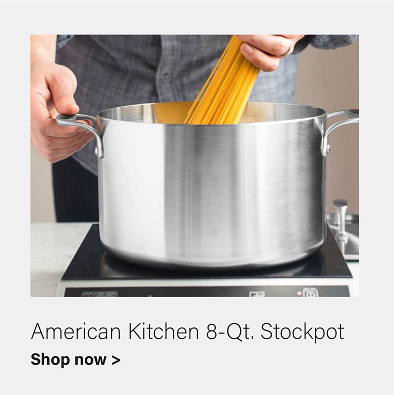 American Kitchen 8-Qt. Covered Stainless Steel Stockpot