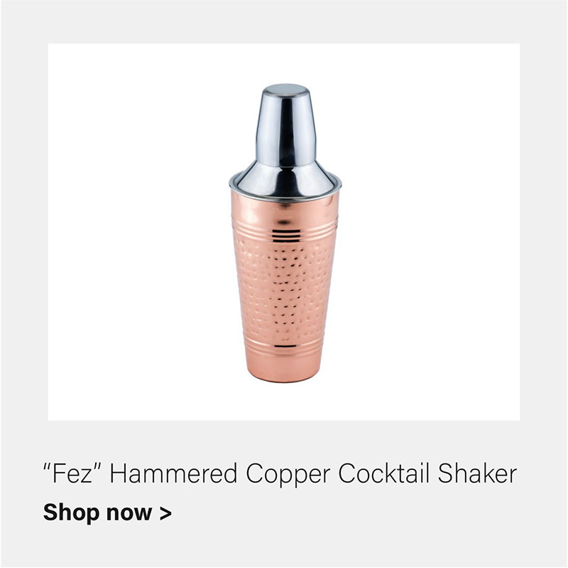 Fez Copper Shocktail Shaker