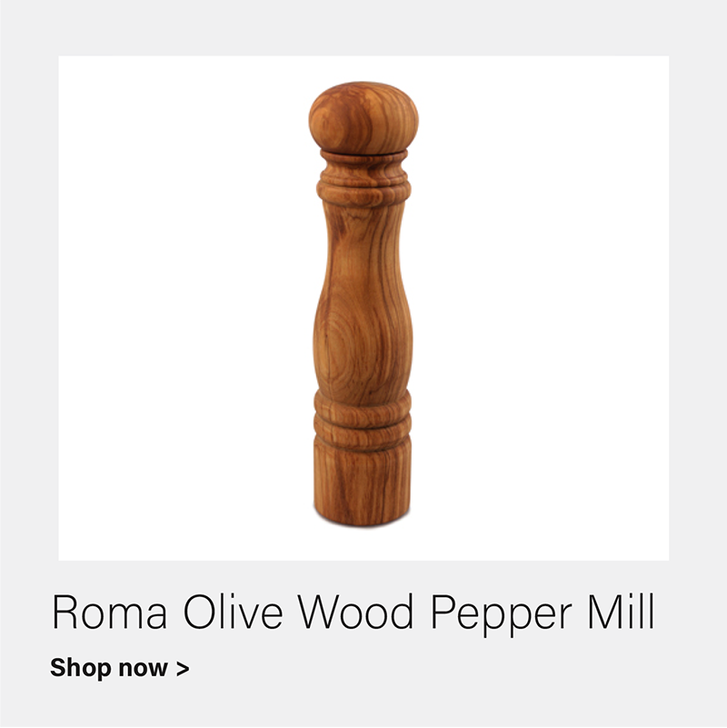Roma Olive Wood Pepper Mill