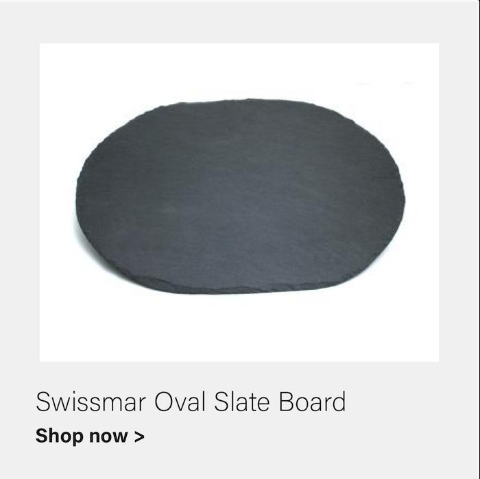 Oval Slate Board