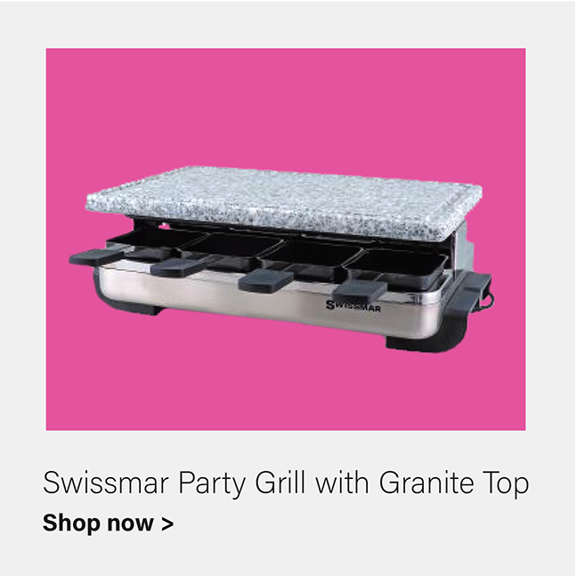 Stelvio - Raclette Party Grill w/Granite Stone Stainless Steel