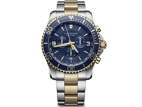 Maverick Chronograph pour homme cadran bleu bracelet bico