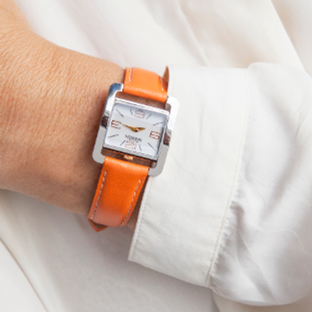 Montre dame 5 ième Avenue Michel Herbelin bracelet en cuir