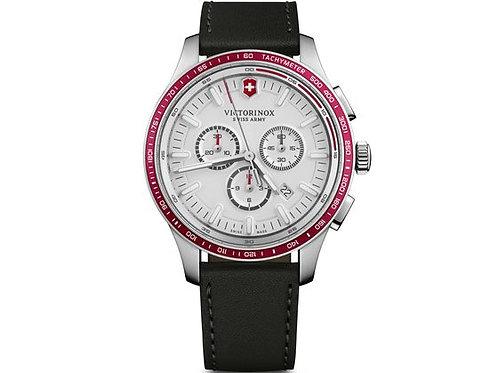 Victorinox Alliance sport chronographe cadran blanc bracelet cuir