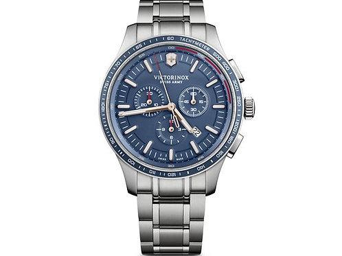 Victorinox Alliance sport chronographe cadran bleu bracelet acier