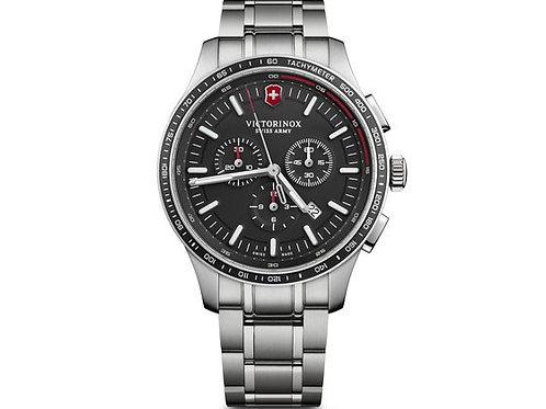 Victorinox Alliance sport chronographe cadran noir bracelet acier
