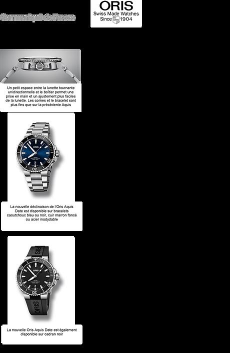 montre étanche cadran bleu oris suisse