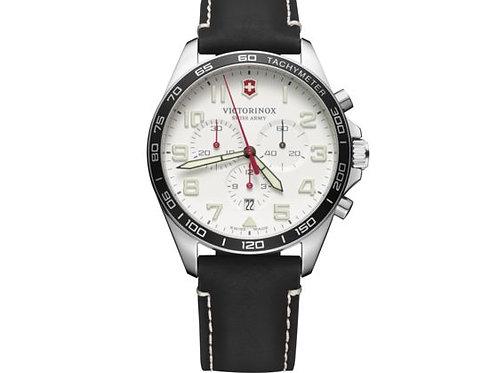 Victorinox Fieldforce montre chronographe sport homme bracelet cuir