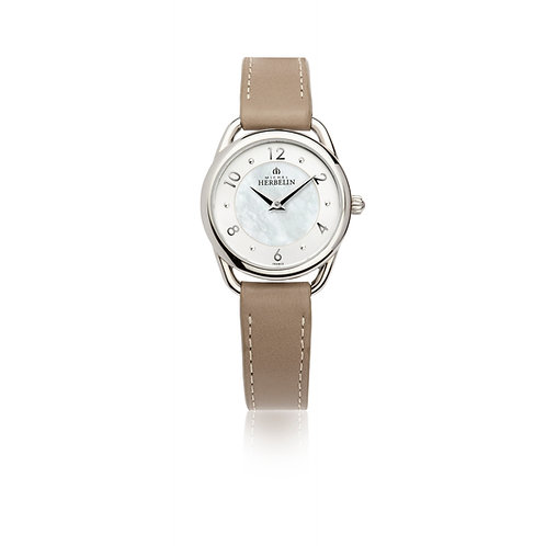 Montre femme Equinoxe Michel Herbelin bracelet en cuir brun