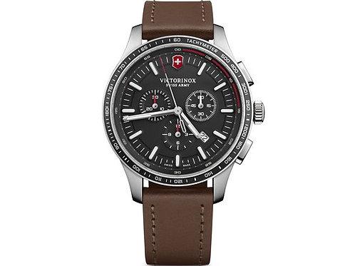 Victorinox Alliance sport chronographe cadran noir bracelet cuir