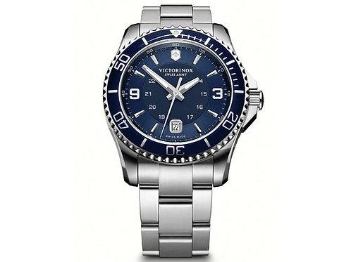 Victorinox Maverick pour homme étanche cadran bleu bracelet acier