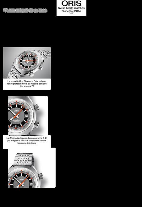 montre homme de sport chrono automatique oris
