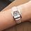 Thumbnail: Montre dame 5 ième Avenue Michel Herbelin bracelet en cuir couleur pastel