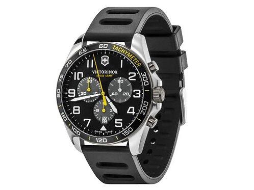 Victorinox Fieldforce montre chronographe sport homme bracelet caoutchouc noir