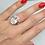 Thumbnail: Bague à Part strass en plaqué Or 18K cristaux Autrichiens et Swarovski éléments
