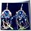 Thumbnail: Boucles d'oreilles Colorful strass Swarovski Cristal Autrichien en plaqué Or