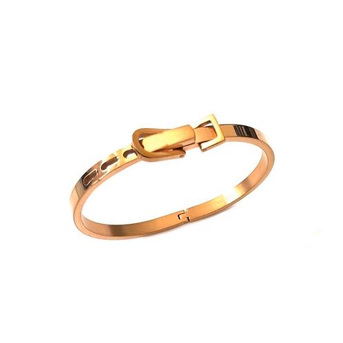 Bracelet femme en titane cuivre Or