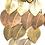 Thumbnail: Boucles d'oreilles feuilletées asymétriques en métal et bronze