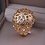 Thumbnail: Bague à Dame strass en plaqué Or 18K cristaux Autrichiens et Swarovski éléments