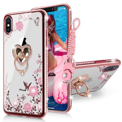 Case Coque iPhone XS Max, Coque en TPU Souple en Cristal avec Motif de Papillon