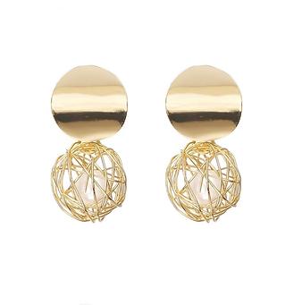 Boucles d'oreilles Perles Cuivre Or 14 K